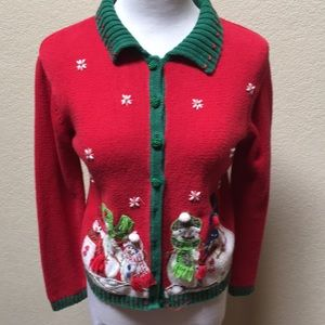 Sweaters - Girls Vintage Christmas Sweater
